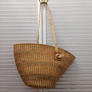 Handbags - Brown Natural Sisal Shoulder Bag Beach Countryside